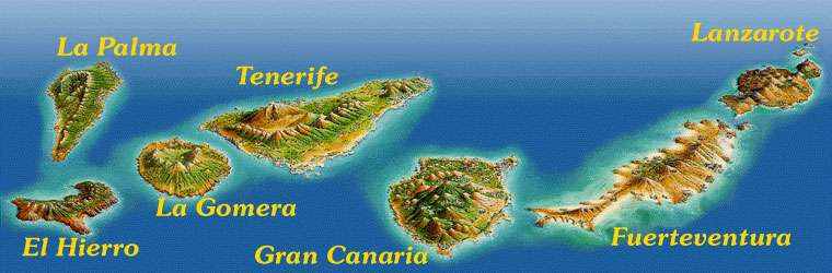 Cartina Canarie Spagna.Mappa Isole Canarie Canary Islands Map Spagna Spain